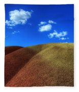Painted Hills Blue Sky 1 Fleece Blanket