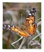 Painted Lady Square Fleece Blanket