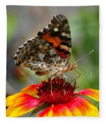 Painted Lady Fleece Blanket