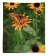 Painted Lady With Friends Fleece Blanket