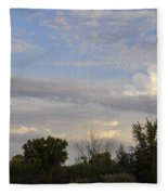 Painted Landscape Fleece Blanket