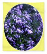 Painted Lilacs Fleece Blanket