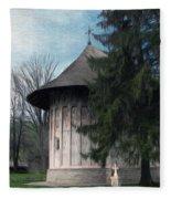 Painted Monastery Fleece Blanket