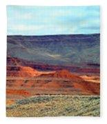 Painted Mountains Fleece Blanket