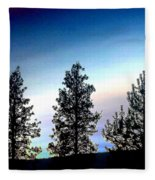 Painted Pine Tree Trio Fleece Blanket