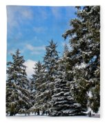 Painted Pines Fleece Blanket