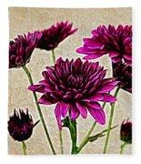 Painted Pink Bouquet Fleece Blanket