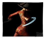 Painted Risks 2 Fleece Blanket