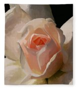 Painted Rose Fleece Blanket