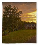 Painted Sunset Fleece Blanket