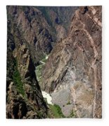 Painted Wall Black Canyon Of The Gunnison Fleece Blanket