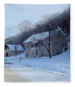 Painted Winter Fleece Blanket