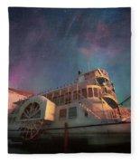 Painterly Northern Lights Fleece Blanket