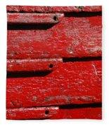 Painting It Red Fleece Blanket