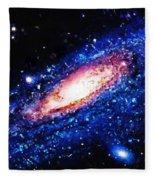 Painting Of Galaxy Fleece Blanket