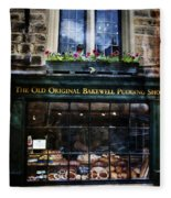 Can You See The Ghost In The Top Window At The Old Original Bakewell Pudding Shop Fleece Blanket