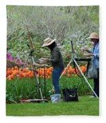Painting Springtime  Fleece Blanket