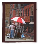 Painting The Past Fleece Blanket