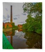 Painting The River Fleece Blanket
