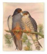 Pair Amur Falcons Fleece Blanket