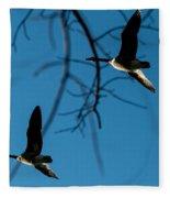 Pair Of Geese Fleece Blanket