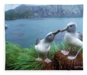 Pair Of Grey-headed Albatross Fleece Blanket