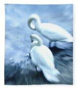 Pair Of Swans Fleece Blanket