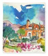Palace In Sintra Fleece Blanket