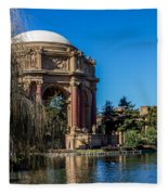 Palace Of Fine Arts In Color Fleece Blanket