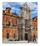Palace Of San Telmo In Seville Fleece Blanket