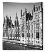 Palace Of Westminster Fleece Blanket