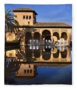Palacio Del Partal La Alhambra Fleece Blanket