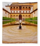 Palacios Nazaries In Granada Fleece Blanket