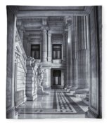 Palais De Justice Fleece Blanket