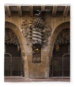 Palau Guell 1886 To 88 Gaudi Barcelona Spain Dsc01413 Fleece Blanket