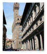Palazzo Vecchio And Uffizien Fleece Blanket
