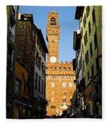 Palazzo Vecchio In Florence Italy Fleece Blanket