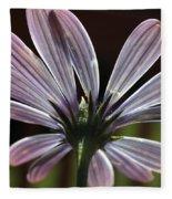 Pale Blue Flower Backlit Fleece Blanket
