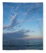 Pale Blues And Feathery Clouds In The Fading Light Fleece Blanket