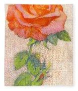 Pale Rose Fleece Blanket
