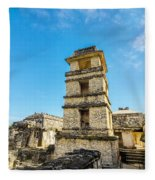 Palenque Palace Tower Fleece Blanket