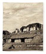 Palenque Panorama Sepia Fleece Blanket