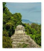 Palenque Temple Fleece Blanket