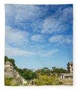 Palenque Temples Fleece Blanket