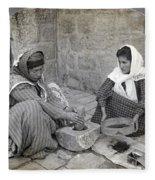 Palestine Grinding Coffee Fleece Blanket