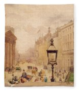 Pall Mall From The National Gallery Fleece Blanket