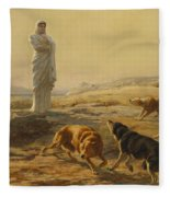 Pallas Athena And The Herdsmans Dogs Fleece Blanket
