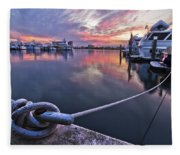 Palm Beach Harbor Fleece Blanket