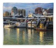 Palm Beach Marina Fleece Blanket