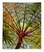 Palm Canopy Fleece Blanket